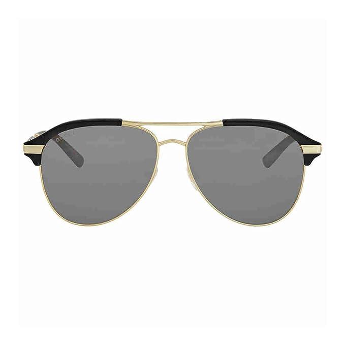d307e3f9737 Gucci Grey-Silver Aviator Sunglasses Gg0288Sa-005 60  Amazon.ca  Clothing    Accessories