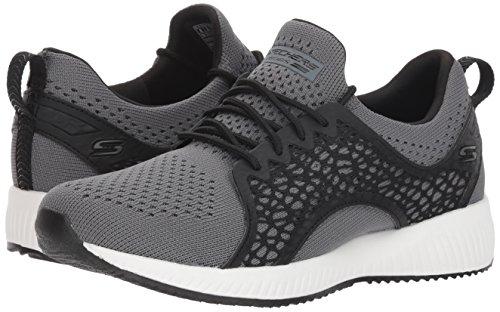 Squad Zapatillas Mujer electromagnetic Skechers Para Bobs charcoal Black Ccbk Gris vxqA45WSfw