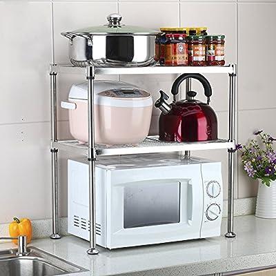 LXF Soporte microondas Estante de Cocina de Acero Inoxidable ...