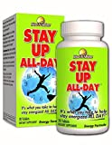 Stay Up All Day - Best Selling Natural Energy Supplement with Guarana Seed Extract, Unroasted Coffee Bean, Vitamin B12, Vitamin B6, L-tyrosine and more for Increased Energy, Endurance and Alertness