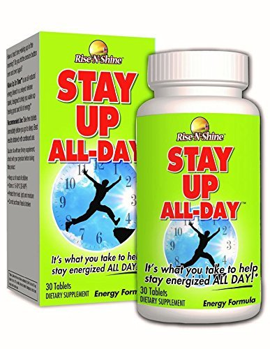 Stay Up All Day Natural Energy Pills Energy Booster Supplement with Natural Caffeine, B Vitamins and More for Increased Energy, Endurance and Alertness 30 Count
