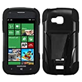 MYBAT ASAMI930HPCSAAS101NP Advanced Armor Rugged Durable Hybrid Case with Kickstand for Samsung ATIV Odyssey - 1 Pack - Retail Packaging - Black