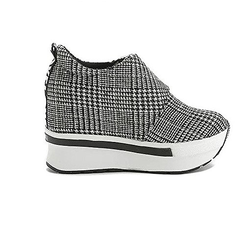 Women Hiking Grey Female Running Grey Sneakers Wedges Casual Outdoor Platform Soles Black Shoes Shoe Thick Fashion ZwZ8Hqzrnv