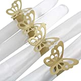50pcs/lot of Metallic Butterfly Paper Napkin Ring/wrap, Weddings Party Home Decoration, Table Decoration