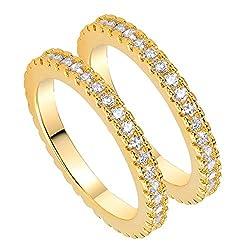 Gold Plated CZ Simulated Diamond Band