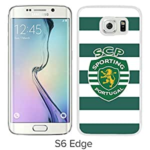 New Fashion Custom Designed Skin Case For Samsung Galaxy S6 Edge With Sporting Lisbon White Phone Case 1