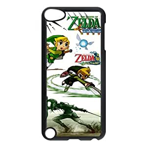 Stylish The Legend of Zelda Design Case For iPod Touch 5,The Legend of Zelda Pattern Hard Case for Apple ipod touch 5th Generation (Black/White)