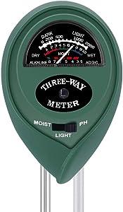 YAOGONG Digital Soil ph Meter 3 in 1 Outdoor Gardening Plant Flowerpot Tester Soil Moisture Meter/PH Meter/illuminance Meter