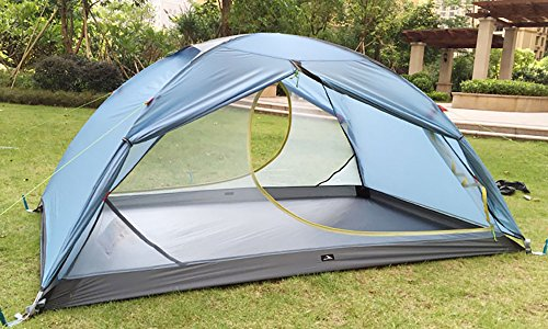 MaxMiles 1 2 Person Premium Backpacking Tent Ultra-Lightweight 20D Nylon Taffeta Rip-Stop Tent 3.4lb/1.5kg - Strong Durable Waterproof Mountain Hiking Tent- Compact One or Two Person Ultra-Light Tent by MaxMiles (Image #2)