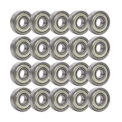 Rollerex 20-Pack, 608Z ABEC-1 Wheel Bearings (for Any Products Using Roller Skate Wheels) (Carbon Steel) : Sports & Outdoors