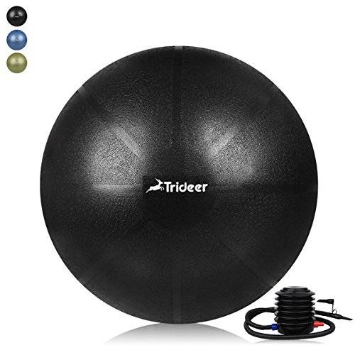 Trideer Exercise Ball (Multiple Color), Yoga Ball, Birthing Ball with Quick Pump, Anti-Burst & Extra Thick, Heavy Duty Ball Chair, Stability Ball Supports 2200lbs by Trideer (Image #1)