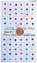 Multi Assorted Colors Velvet Dot Bindi Tattoo 240 Stickers Adhesive Body Jewelry P3