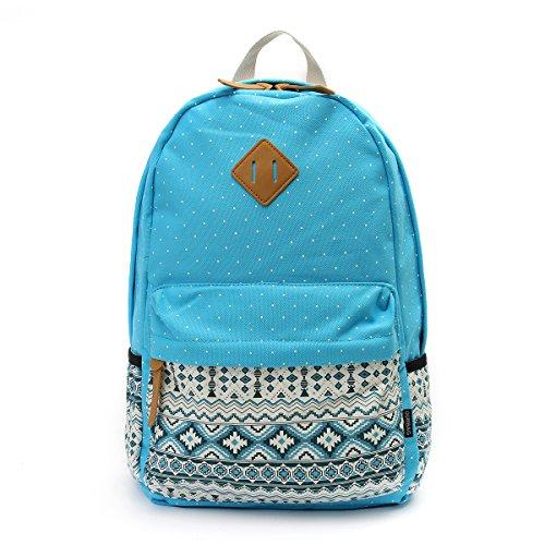 for 3PCS Girls 3PCS Light Navy Bags Set Backpack Schoolbag Lightweight Blue Blue OURBAG Women Wallet Casual Shoulder Canvas 4SFB8B