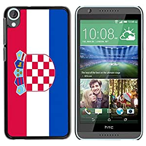 - Flag - - Monedero pared Design Premium cuero del tirš®n magnšŠtico delgado del caso de la cubierta pata de ca FOR HTC Desire 820 D820 d820t Funny House