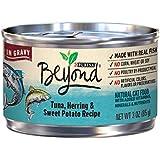 Purina Beyond Tuna, Herring & Sweet Potato Recipe in Gravy Adult Wet Cat Food - Twelve (12) 3 oz. Cans