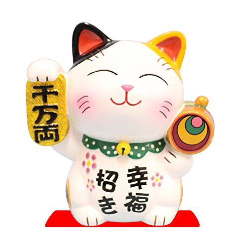 "Tokyo Collectibles 4"" Maneki Neko Japannese Lucky Fortune Cat Coin Bank (Smiling Cat, Calico)"
