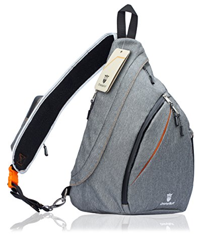 ChampStuff Small Canvas Sling Bag for Men and Women, Waterproof, Comfortable Single Strap, Wear Crossbody by ChampStuff