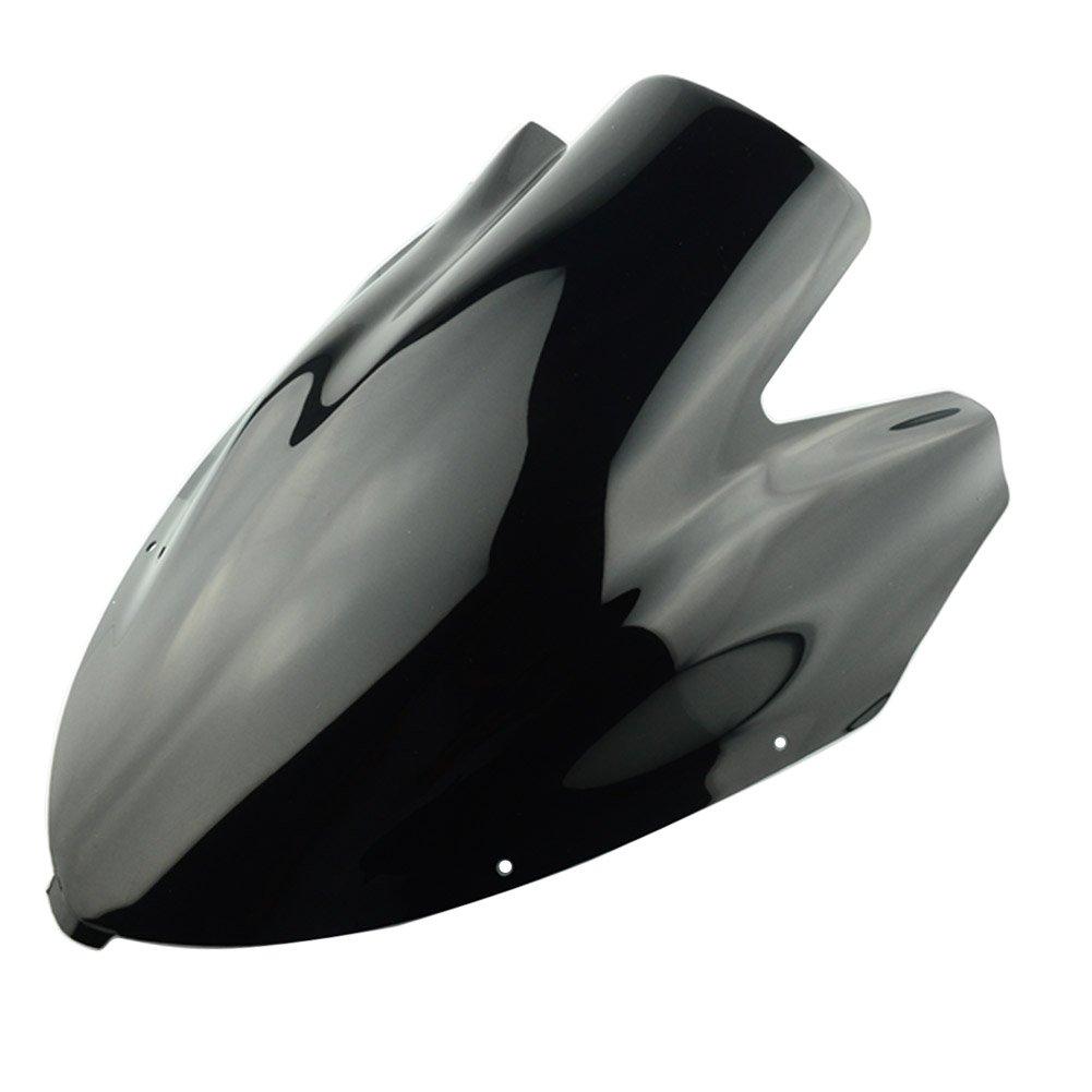 New Smoke Black Motorcycle parts DOUBLE BUBBLE Windshield Windscreen Fairing Screen ABS Shield For Kawasaki NINJA 650 ER6F 2006 2007 2008 06-08