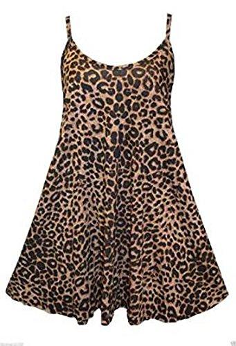 Girls Walk Women's New Strappy Animal Leopard Print Camisole Vest Top