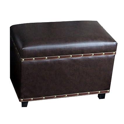 Amazon Com Qqxx Ottoman Storage Chest Living Room Shoe Bench Solid