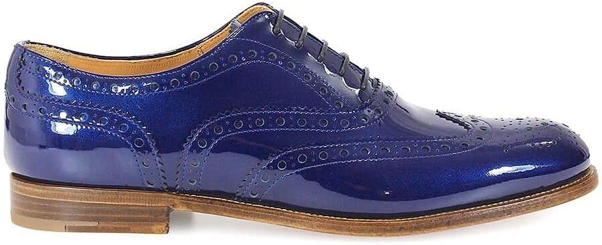 Lace-Up Flats Blue Blue Blue Size