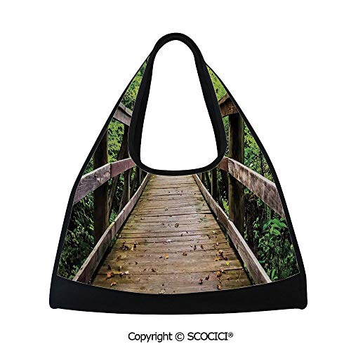 Badminton bag,Rustic Wooden Walking Bridge Limberlost Trail in Shenandoah National Park Virginia Decorative,Easy to Carry(18.5x6.7x20 in)