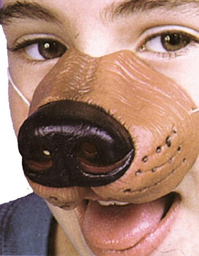 [Dog Nose(One Size-As Shown)] (Vinyl Halloween Costumes Mask)