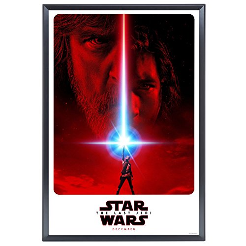 "SnapeZo Movie Poster Frame 24x36 Inches, Black 1.25"" Aluminu"