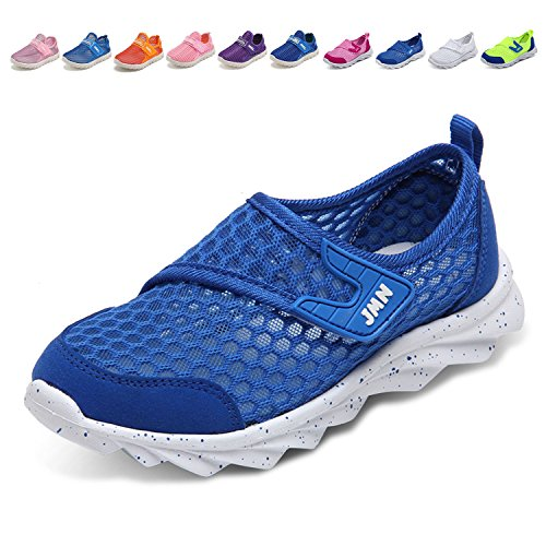 - WALUCAN Boys and Girls Water Shoes Breathable Mesh Running Shoes Anti-Slip Sneakers (Little/Big Kids) Blue,28