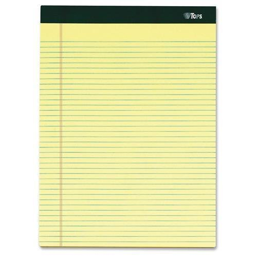 TOPS Notepads,Narrow Ruled,100 Shts,8-1/2''x11-3/4'',6/PK,Canary (63376) by TOPS (Image #1)
