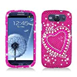TOOGOO Dazzling Diamond Bling Case for Samsung Galaxy S3 i9300 - Heart Pearl Pink