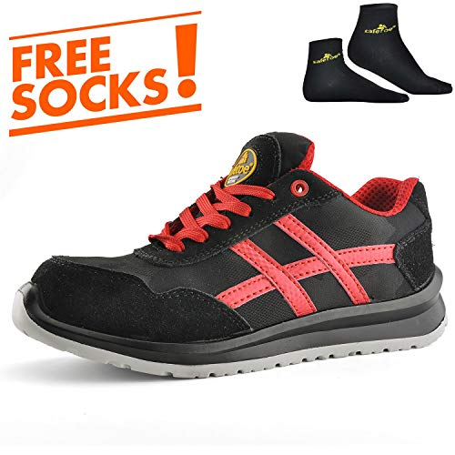 97422907d2e8 SAFETOE Lightweight Safety Shoes Trainers - 7329 Free Sock Metal Free Safety  Trainers with Composite Plastic Toe Cap