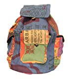 Lungta Imports DharmaObjects Lungta Recycled Jute Rice Bag Backpack Hand Made Nepal