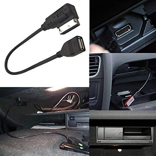 CHELINK Audi AMI MMI USB Cable Audio MP3 Music Interface Adapter Connect Music Storage Device with USB Connector for Audi VW Jetta GTI GLI Passat CC Tiguan Touareg EOS Audi0002