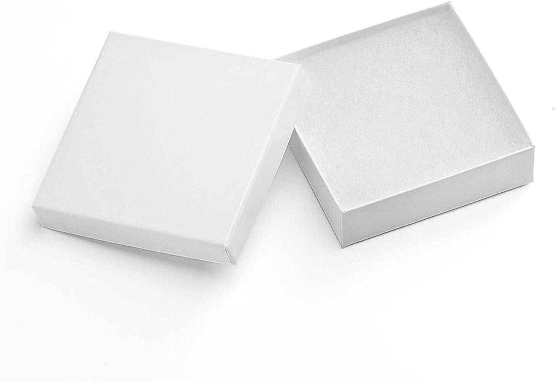 Wedding Gift Box Jewelry Gift Boxes 3-12 x 3-12 x 1 Jewelry Boxes Kraft Boxes 5 Gold Linen Jewelry Boxes