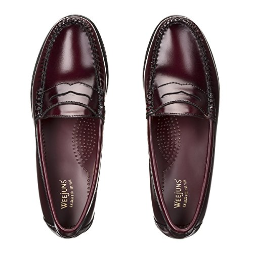 Wine Leather H Loafers Bass Penny Weejuns 4h G fwPqFx