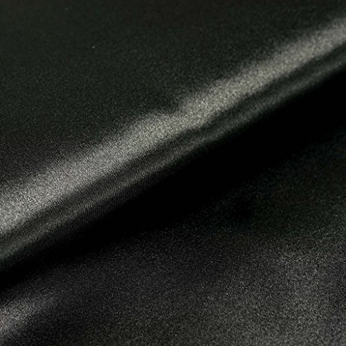 BalsaCircle 54-Inch x 10 yards Black Satin Fabric by the Bolt - Wedding Party Decorations Sewing DIY Crafts Costumes - Black Sale Custom Roll Runner