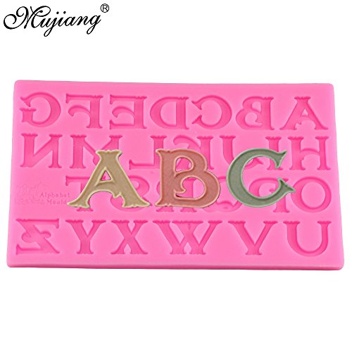 (Star Trade Inc - Sugarcraft 3D Art Capital Letter Silicone Mold Fondant Cake Decorating Tools Candy Chocolate Gumpaste Moulds (1)