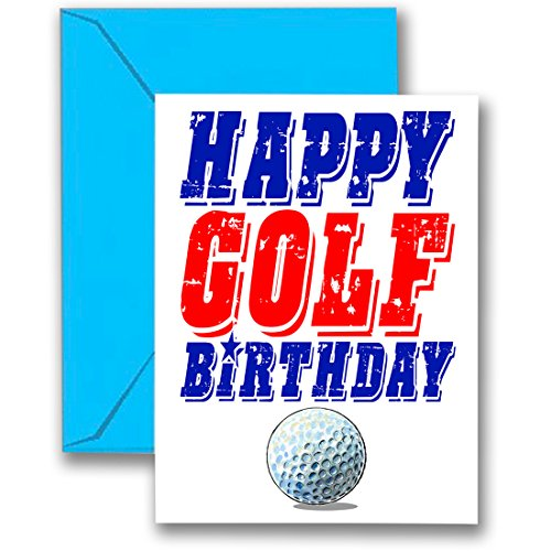 (Play Strong 3-Pack Golf Star Birthday Cards 3-Pack (5x7) Sports Birthday Greeting Cards - Awesome for Players, Coaches and Fans Birthdays, Gifts and Parties! #AllProfitsToHelpKids)
