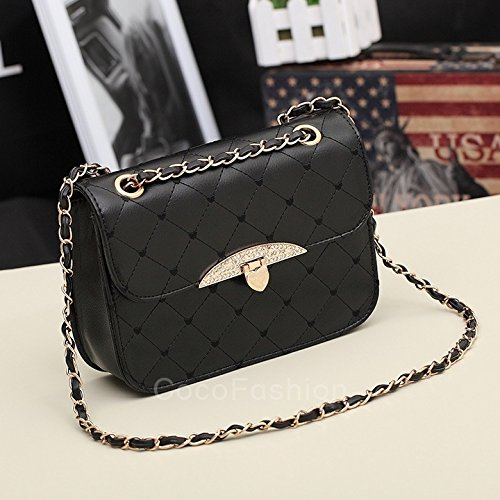 Black Totes Korean Purse wangxiyan Shoulder Leather Handbag White Women Hobo PU Lady Bag ACxCTwqHP