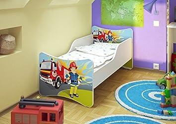 Kinderbett feuerwehr  Best For Kids Kinderbett 70x140 Feuerwehr + Matratze + Lattenrost ...