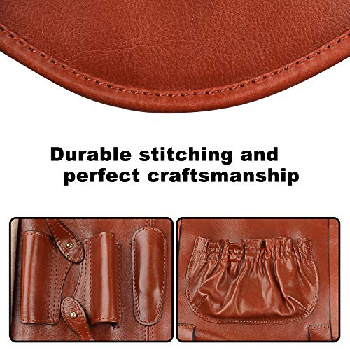 Handmade Genuine Leather Pipe Tobacco Pouch Bag Organize Case Pipe Tool lighter Holder Pocket for 2 pipe Vintage Unisex (Brown(lacing )) by Unknown (Image #7)