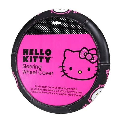 1-pc-hello-kitty-collage-sanrio-black-pink-steering-wheel-cover-new-universal
