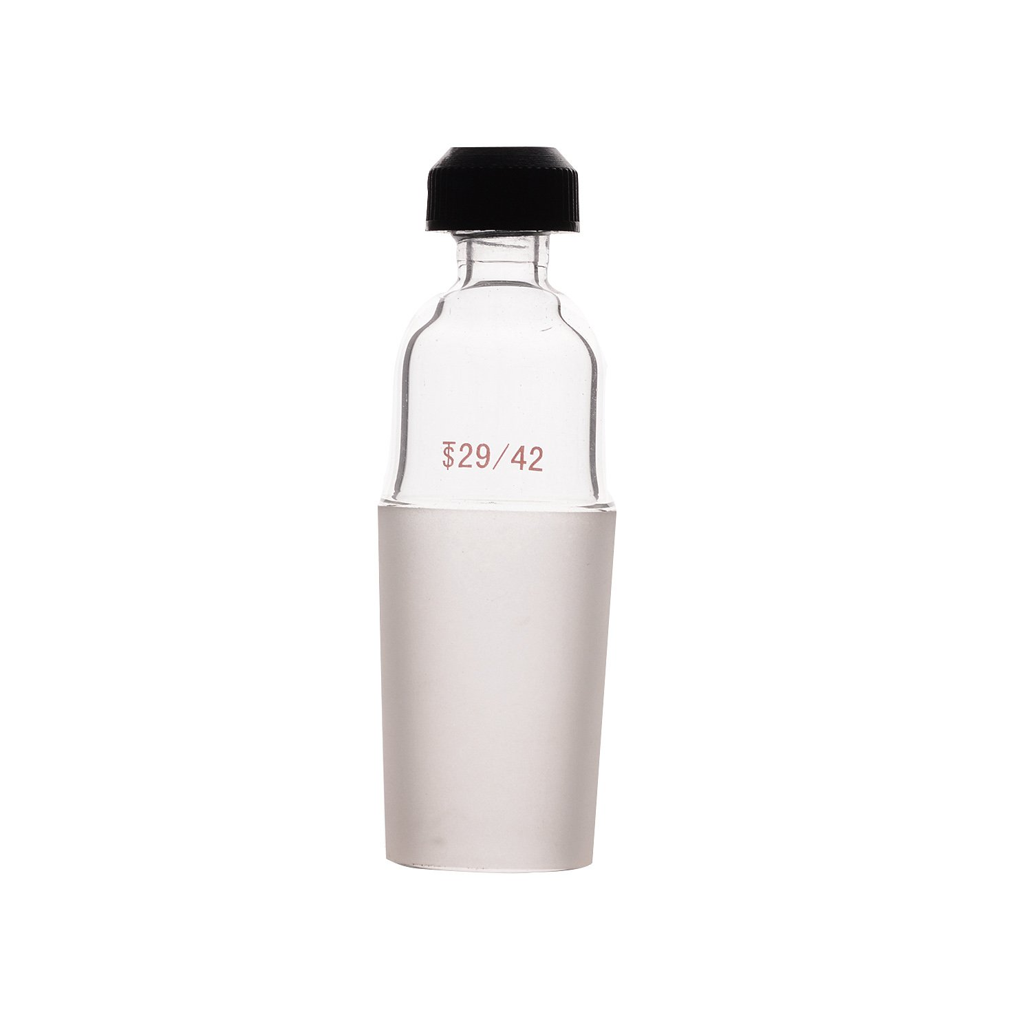 Laboy HMA012104 Glass Thermometer Adapter Inlet with 29/42 Joint Connecting Adapter Lab Glassware for Distillation Apparatus