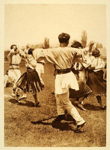 1932 Romanian Folk Dance Batuta Romania Costume Dress - Original Photogravure (Romanian Folk Dance Costumes)