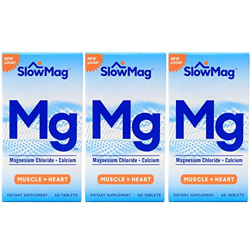 Slow-Mag Magnesium Chloride with Calcium, Tablets, 60 Tablets each (Pack of 3) For Sale