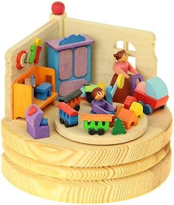 Graupner madera miniaturas - en-caja musical de chico y Chica erzegebirge: Amazon.es: Juguetes y juegos