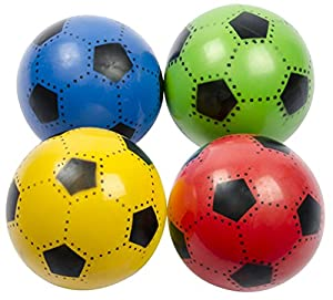 FUßBALL 23 cm Kunststoff Plastik Kunststoffball Kinder Ball Farbauswahl (Rot)