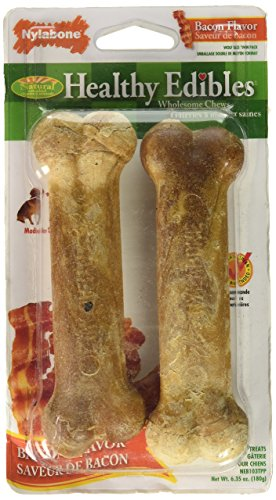 - Healthy Edibles Bacon Bone Dog Treat Size: Wolf/2-Pack
