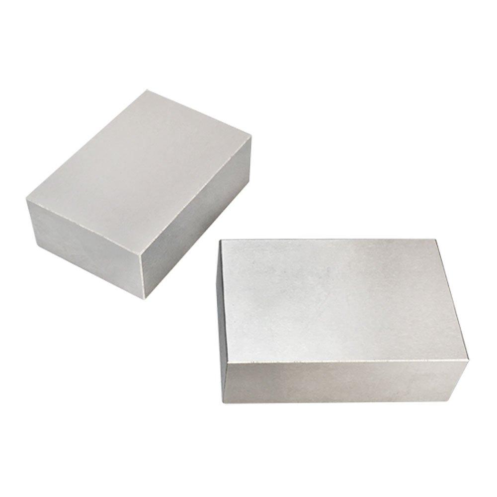 2 PC 1-2-3 Metal Blocks NO Holes Milling Drilling Machining Precision Block
